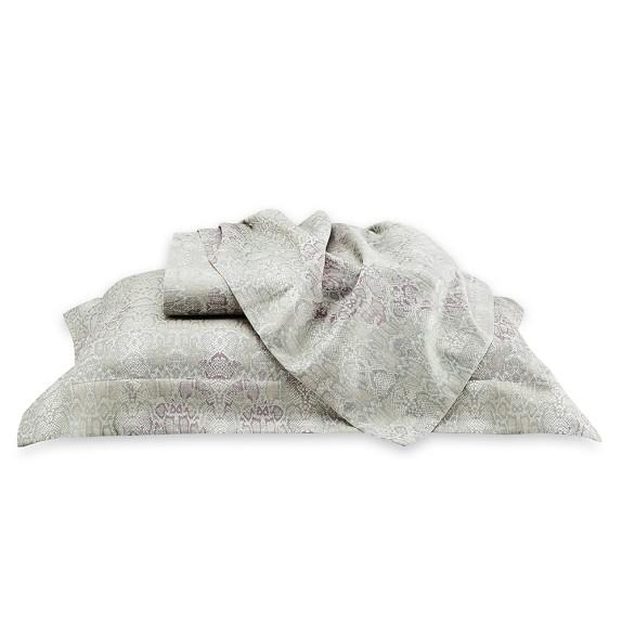 Snake Skin Jacquard Bedding, Duvet, Queen, Gray