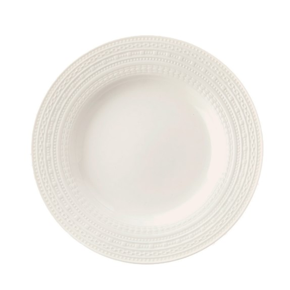 La Porcellana Bianca Casale Rim Salad Plate, Set of 4