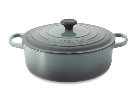 Le Creuset Signature Round Wide Dutch Oven, 6 3/4-Qt., Ocean