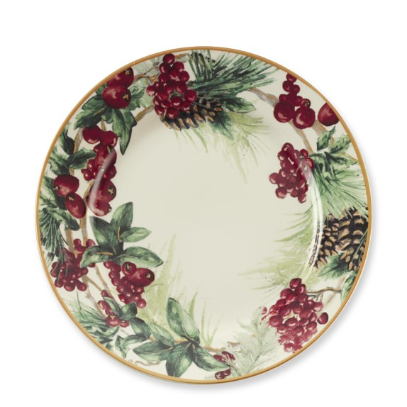 Botanical Wreath Dinner Plates, Set of 4