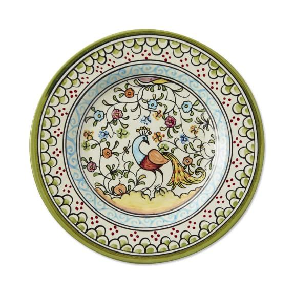 Jardim Salad Plates, Set of 4, Peacock