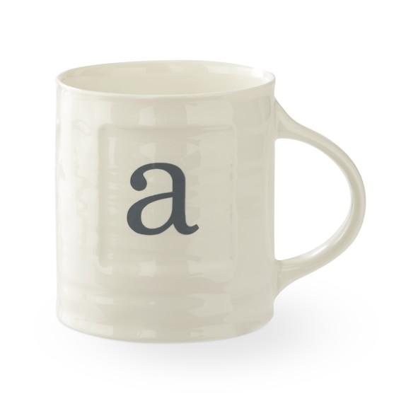 Williams Sonoma Monogram Mug, A