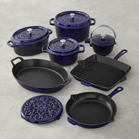 Staub Cast-Iron 12-Piece Cookware Set, Sapphire