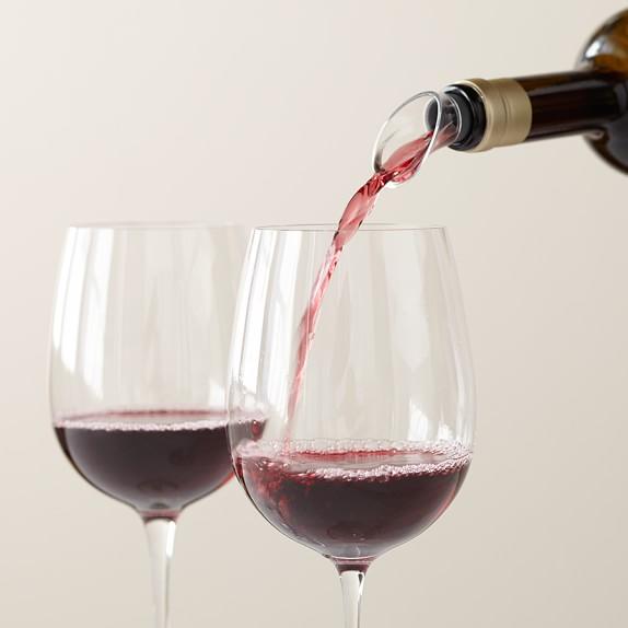 Williams Sonoma Crystal Wine Servers, Set of 4