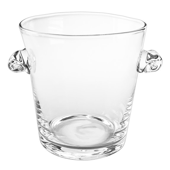 Monogrammed Glass Ice Bucket, Plain
