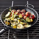 High Heat Nonstick Steel Grill Fry Pan, Black