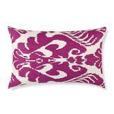 Silk Ikat Medallion Pillow Cover, 14