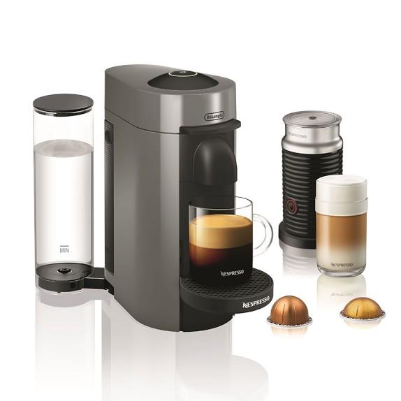 Nespresso VertuoPlus Coffee & Espresso Maker by DeLonghi with Aeroccino, Grey