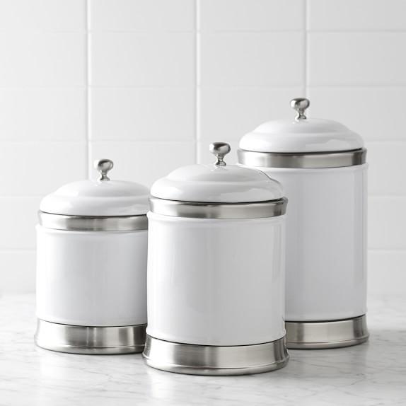 williams ceramic canisters set of 3 williams sonoma