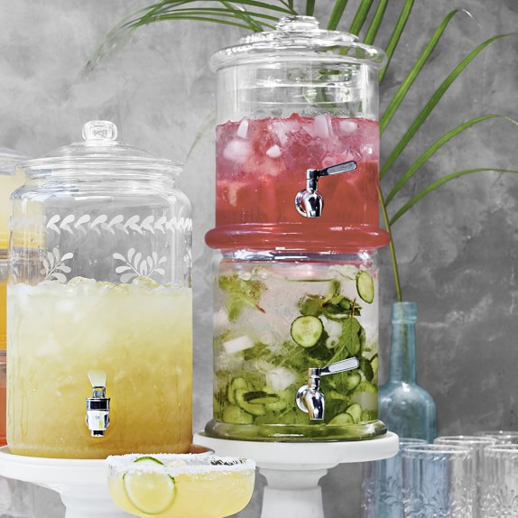 Double-Wall Glass Beverage Dispenser