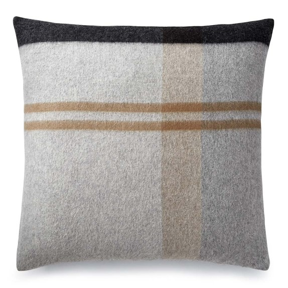 Plaid Lambswool Pillow Cover, 22