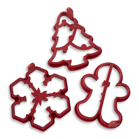 Williams Sonoma Holiday Pancake Molds, Set of 3