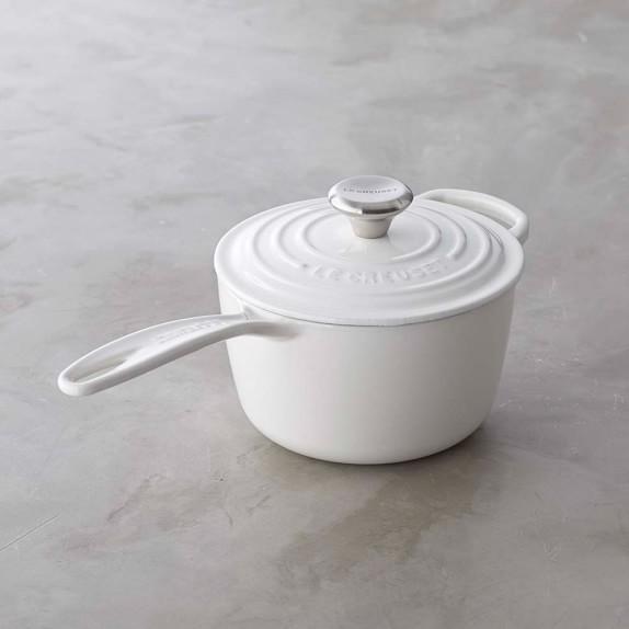 Le Creuset Signature Cast-Iron Saucepan, 1 1/2Qt., White