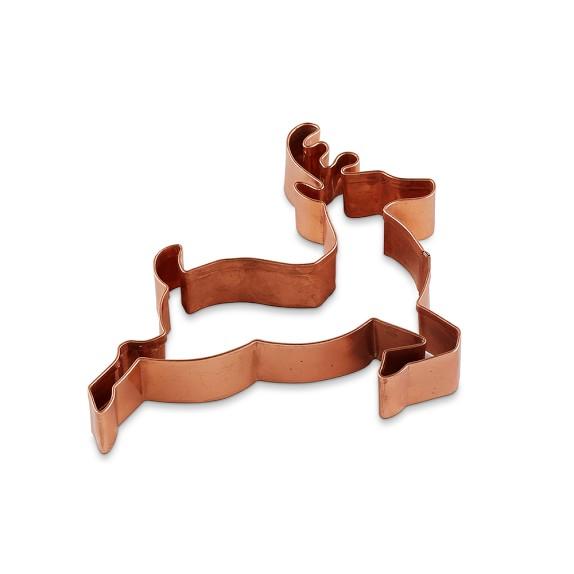 Copper Cookie Cutter, Reindeer, 6 1/2