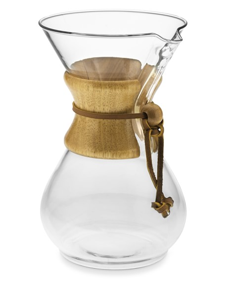 Glass Vase Coffee Maker : Chemex Pour-Over Glass Coffee Maker with Wood Collar Williams Sonoma
