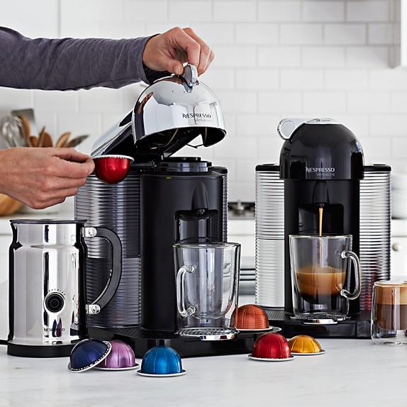 nespresso vertuo coffee espresso maker with milk frother. Black Bedroom Furniture Sets. Home Design Ideas