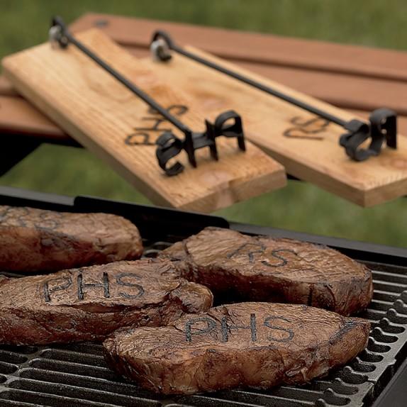 monogrammed forged steak brand