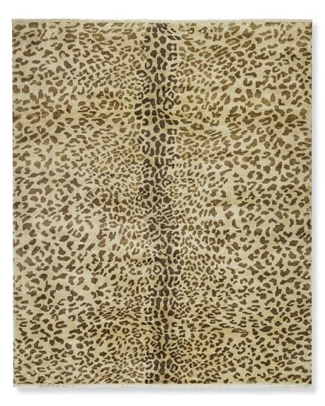 hand knotted leopard rug williams sonoma. Black Bedroom Furniture Sets. Home Design Ideas