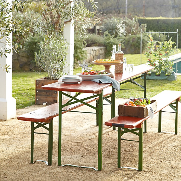Vintage Biergarten Table Williams Sonoma