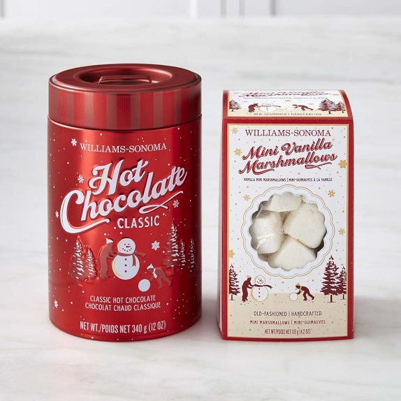 Williams Sonoma Classic Hot Chocolate & Mini Marshmallows Set