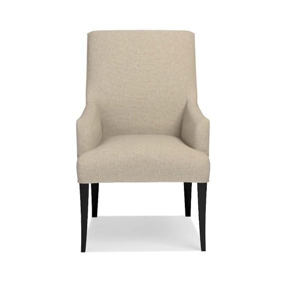 Belvedere Armchair, Ebony, Chunky Linen, Natural