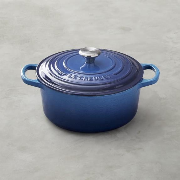 Le Creuset Signature Cast-Iron Round Dutch Oven, 3 1/2 -Qt., Azure Blue