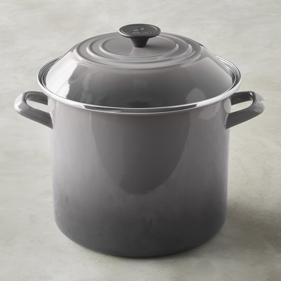 Le Creuset Enameled Stock Pot, 12-Qt., Oyster Grey