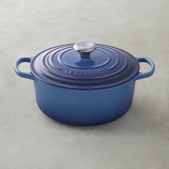Le Creuset Signature Cast-Iron Round Dutch Oven, 5 1/2-Qt., Azure Blue
