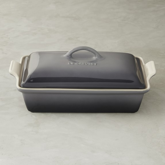 Le Creuset Stoneware Covered Rectangular Casserole, 12 1/2