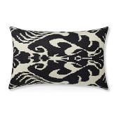 Silk Ikat Medallion Lumbar Pillow Cover, 14