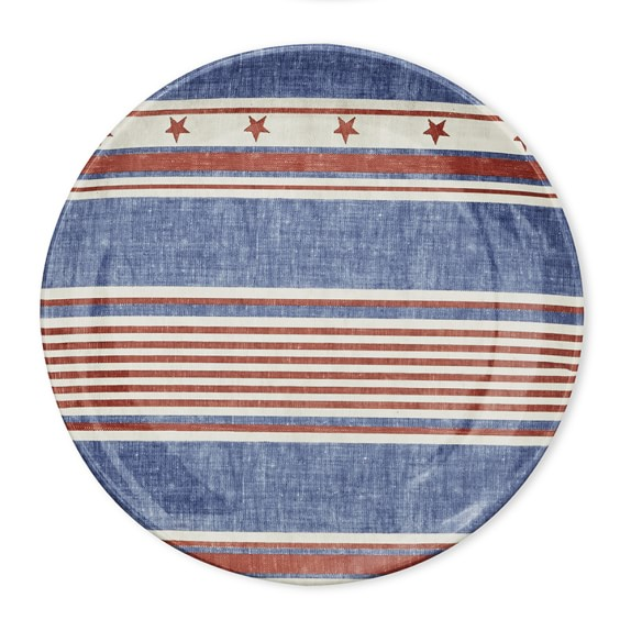 Americana Melamine Dinner Plate, Set of 4