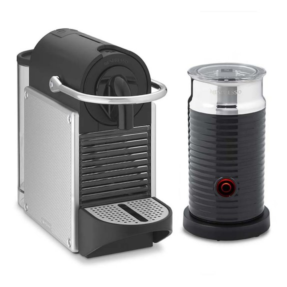 Nespresso Pixie Espresso Machine by De'Longhi with Aeroccino, Aluminum