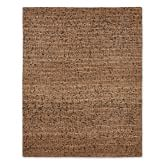 Abaca Rug, 6x9', Brown/Black
