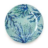 Sea Creature Melamine, Coral Dinner Plates, Set of 4