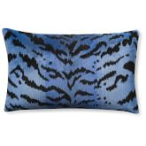 Scalamandre Tiger Pillow Cover, Blue