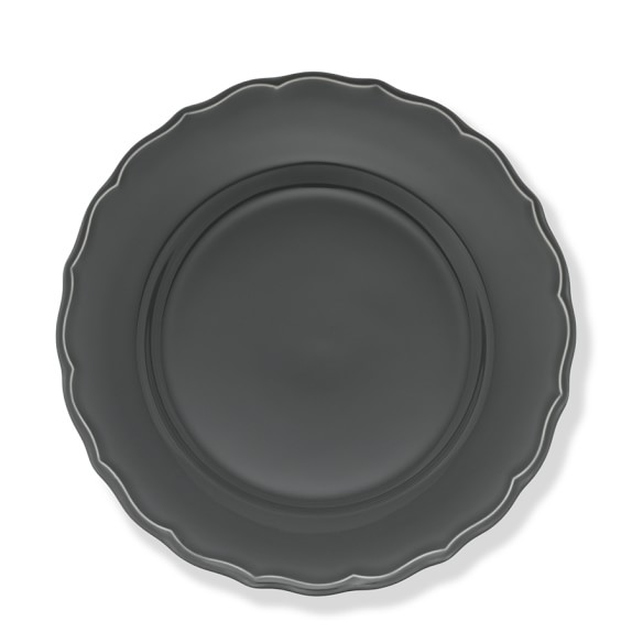 Alexia Dinner Plates, Set of 4, Charcoal