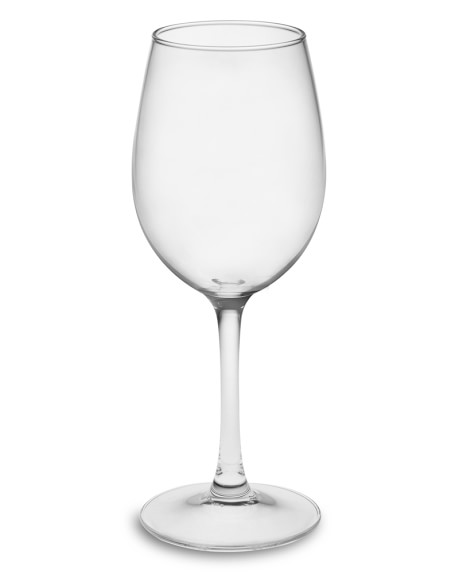 Plain White Wine Glasses, Set of 4
