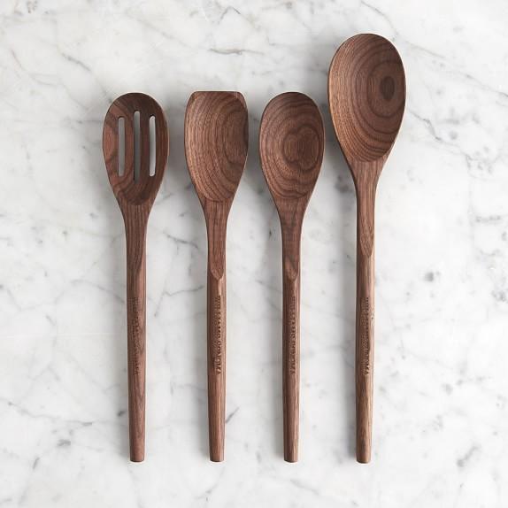 Williams Sonoma Wood Spoons, Set of 4, Walnut