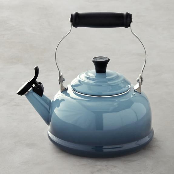 Le Creuset Whistling Tea Kettle, 1.8-Qt., Marine Blue