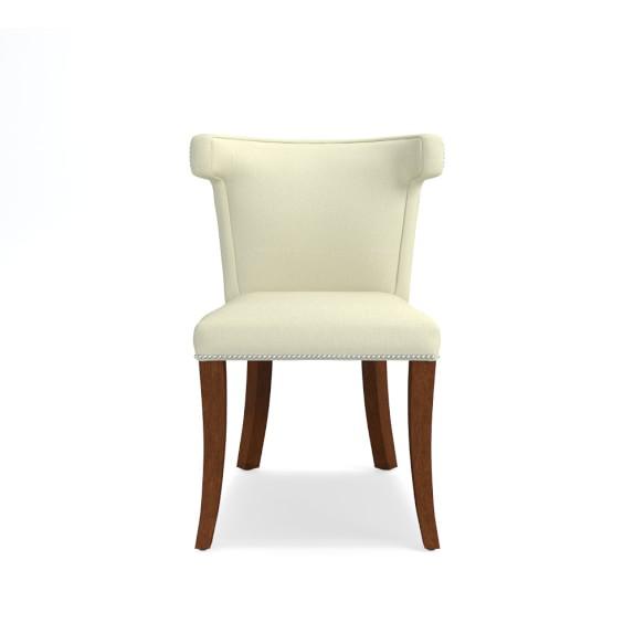 Regency Side Chair, Polished Nickel, Heavy Basket, Natural