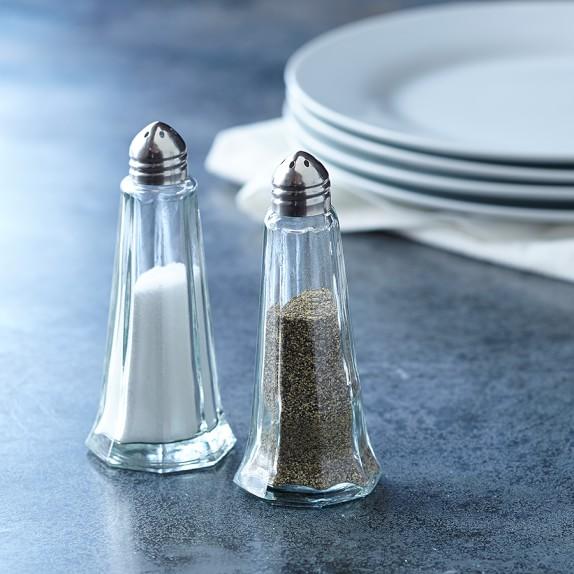 Williams Sonoma Open Kitchen Glass Salt & Pepper Shaker