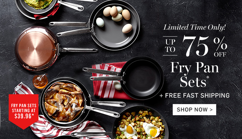 Up to 75% Off Fry Pan Sets + Free Fast Shipping