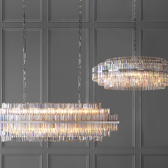 Round crystal chandelier thejots vienna linear crystal chandelier polished nickel williams lighting ideas aloadofball Image collections