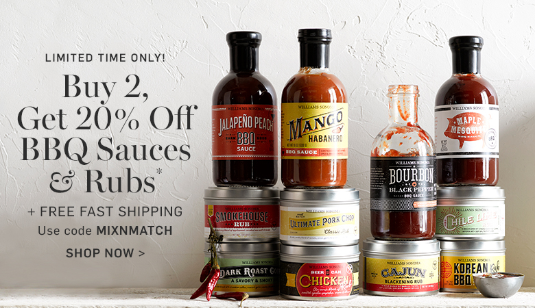 Buy 2, Get 20% Off BBQ Sauces & Rubs