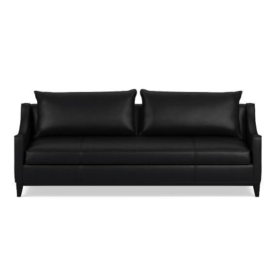 Presidio 94in Sofa Down Blend Cushion, Leather, Black