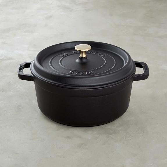 Staub Cast-Iron Round Dutch Oven, 4-Qt., Black