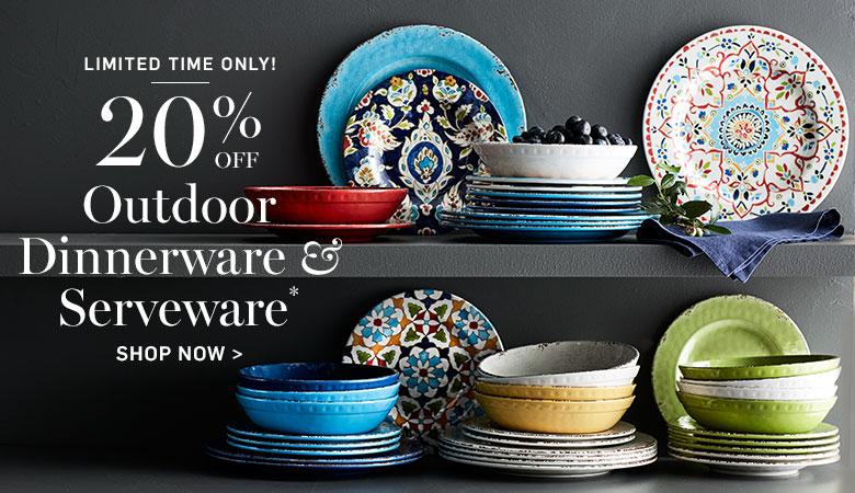 20% Off Outdoor Dinnerware