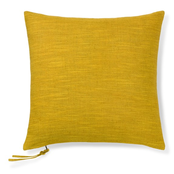 Cotton Linen Pillow Cover With Zipper Pull, 20