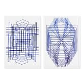 Blue Symmetry, Set of 2
