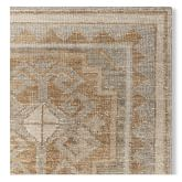 Regal Medallion Hand Knotted Rug Swatch, 18